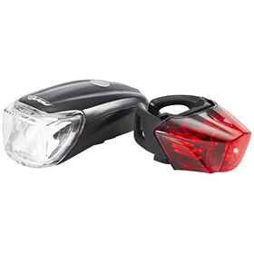 Red Cycling Products Power LED USB Zestaw oświetlenia czarny